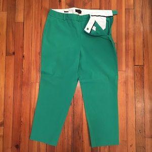 Talbots side zip cropped pants